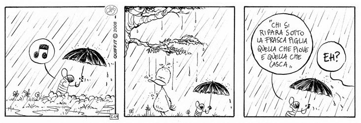 Detti sotto la pioggia